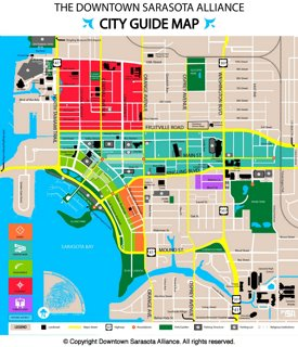 Sarasota tourist map