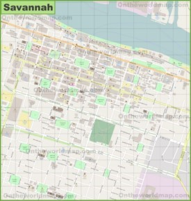 Savannah city center map