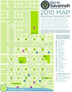 Savannah downtown map