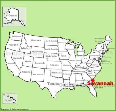 Savannah Location Map