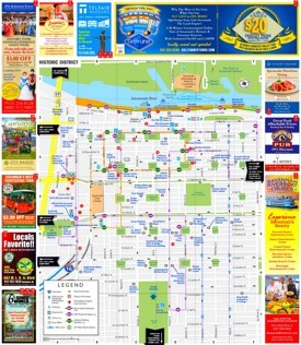 Savannah tourist map