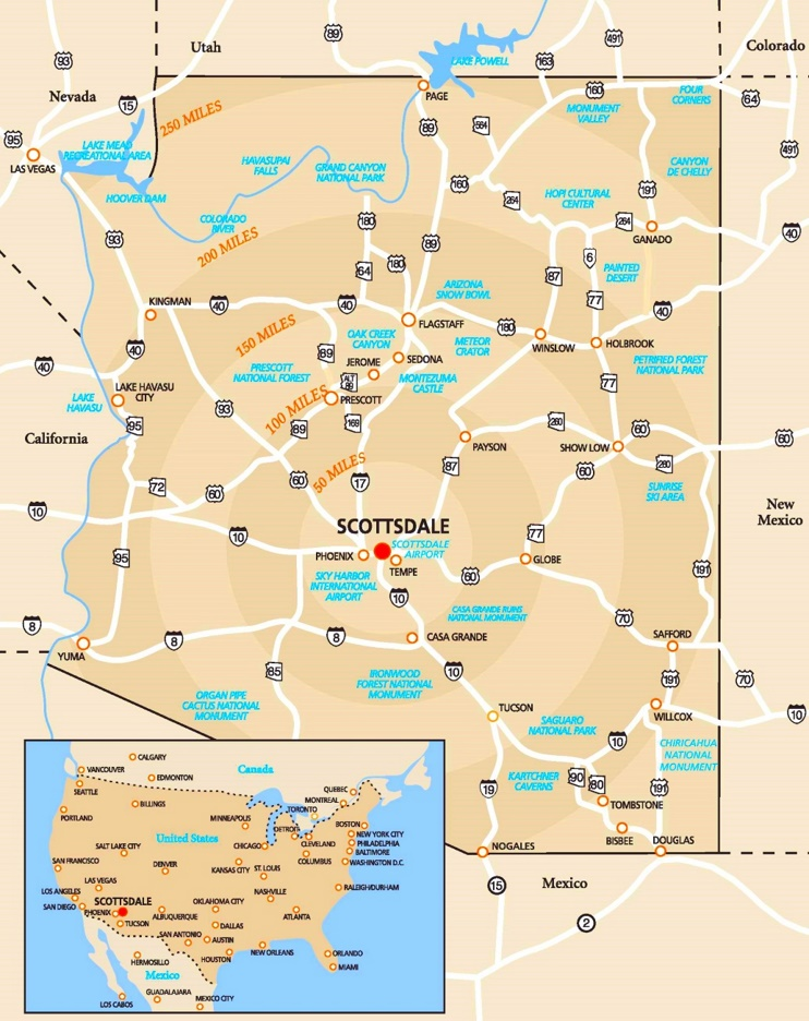 Scottsdale area road map