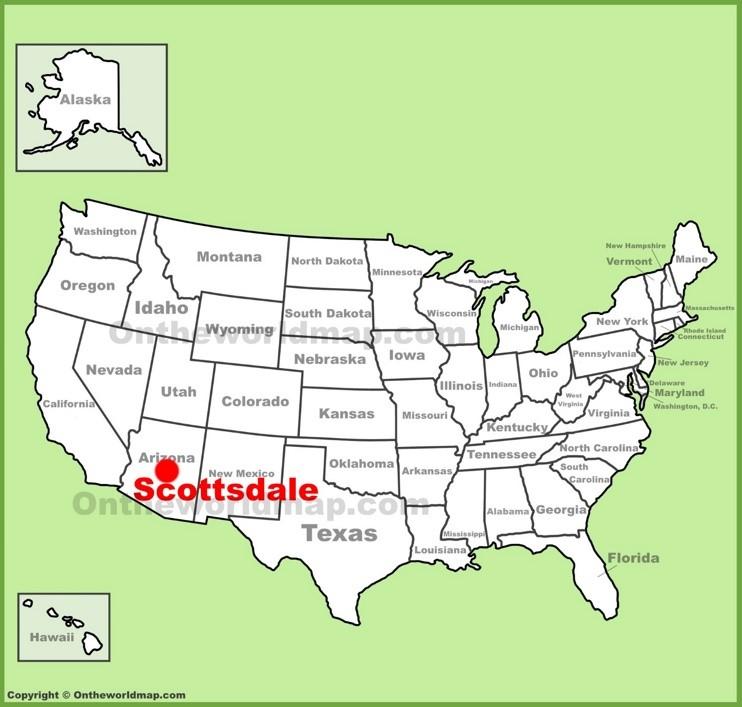Scottsdale location on the U.S. Map