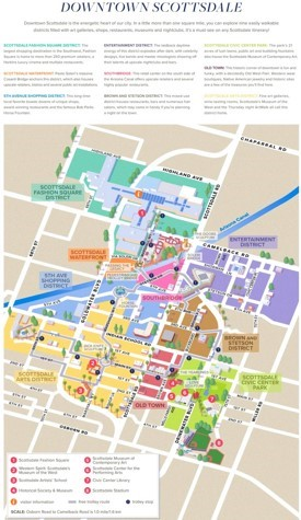 Scottsdale tourist map