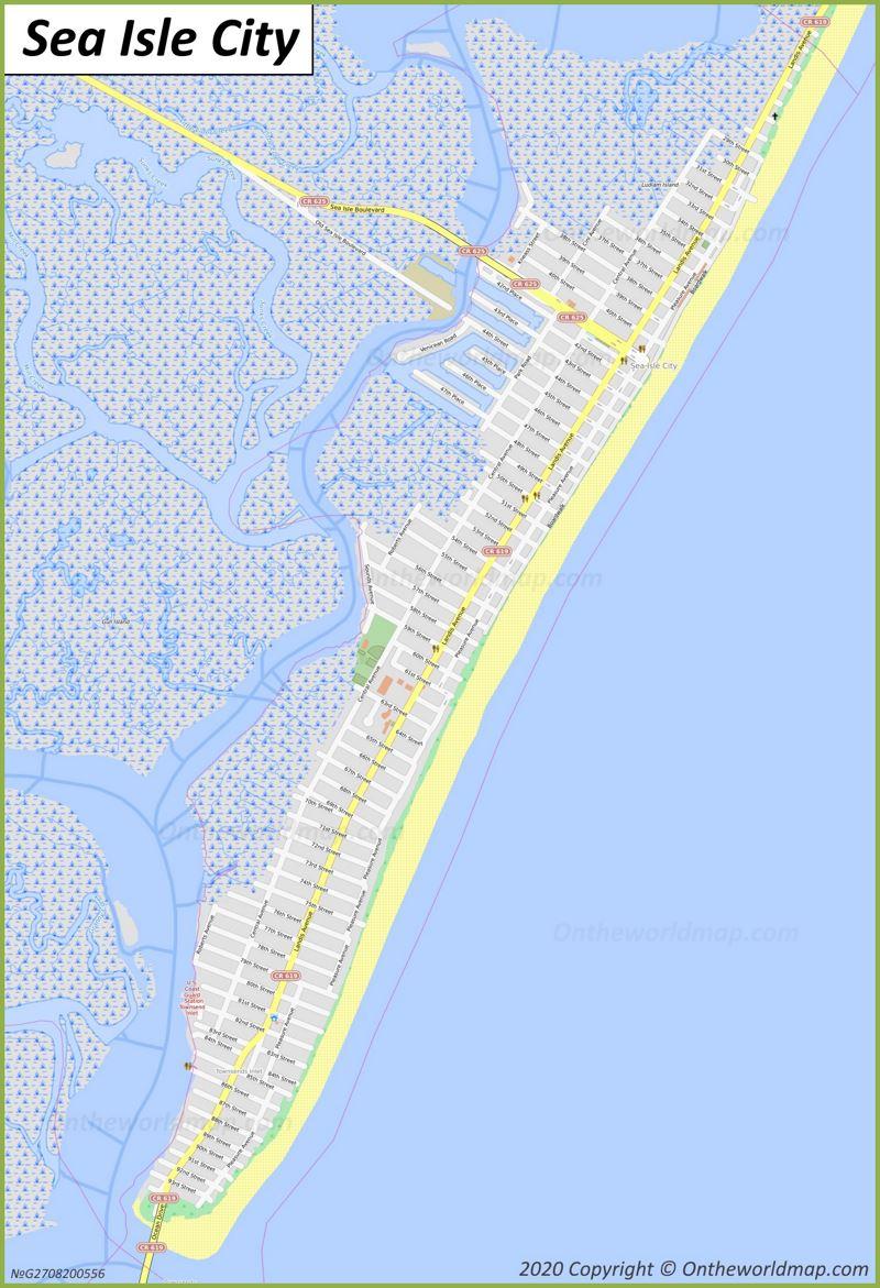 Map of Sea Isle City