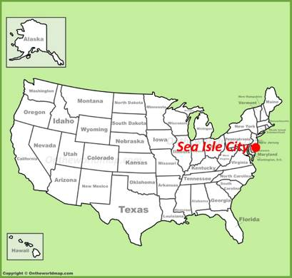 Sea Isle City Location Map