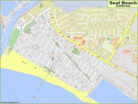 Detailed Map of Seal Beach