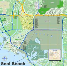 Seal Beach Tourist Map