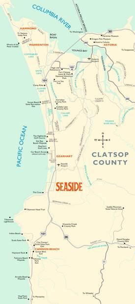 Map of Surroundings of Seaside
