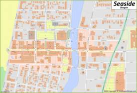Seaside Downtown Map