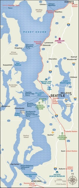 Puget Sound map