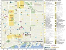 Seattle downtown accommodations map