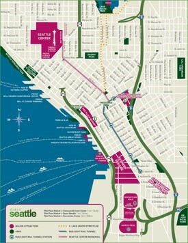 Seattle ferry map