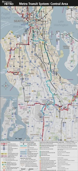 Seattle metro public transport map