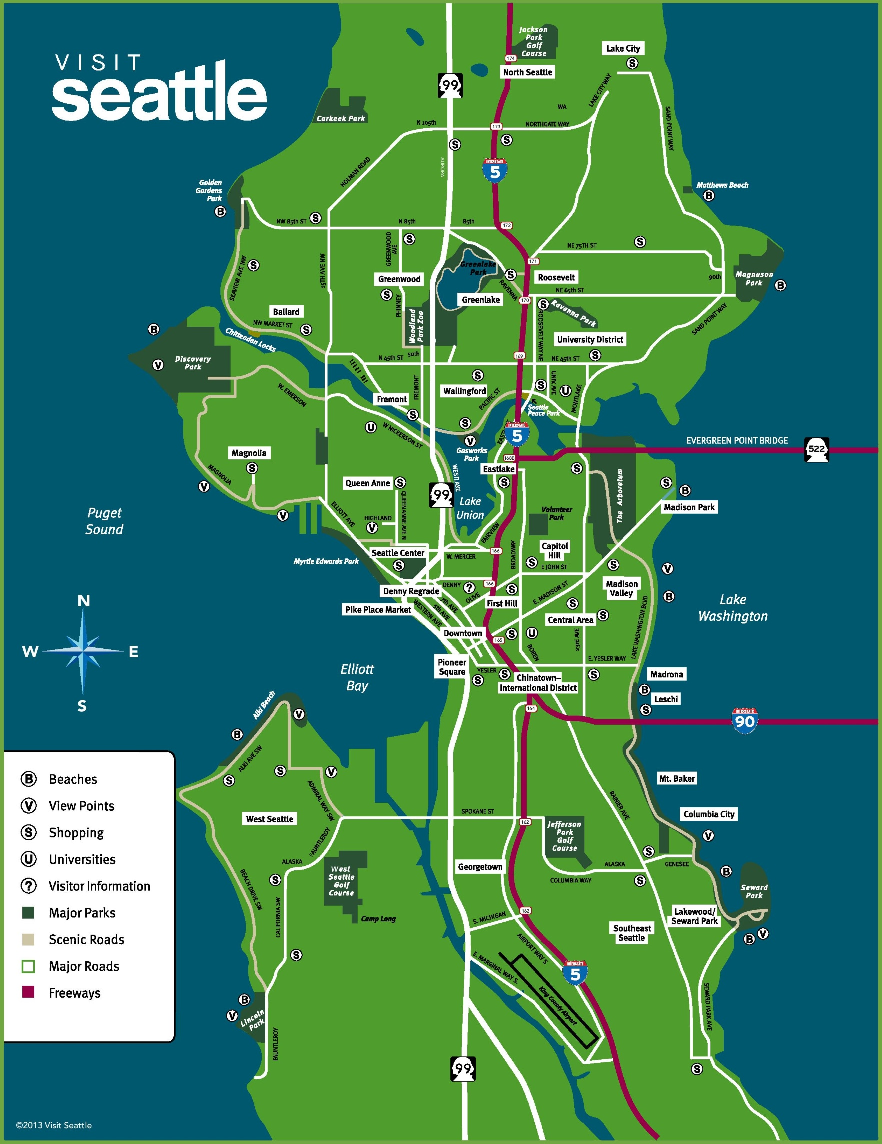 Seattle neighborhood map