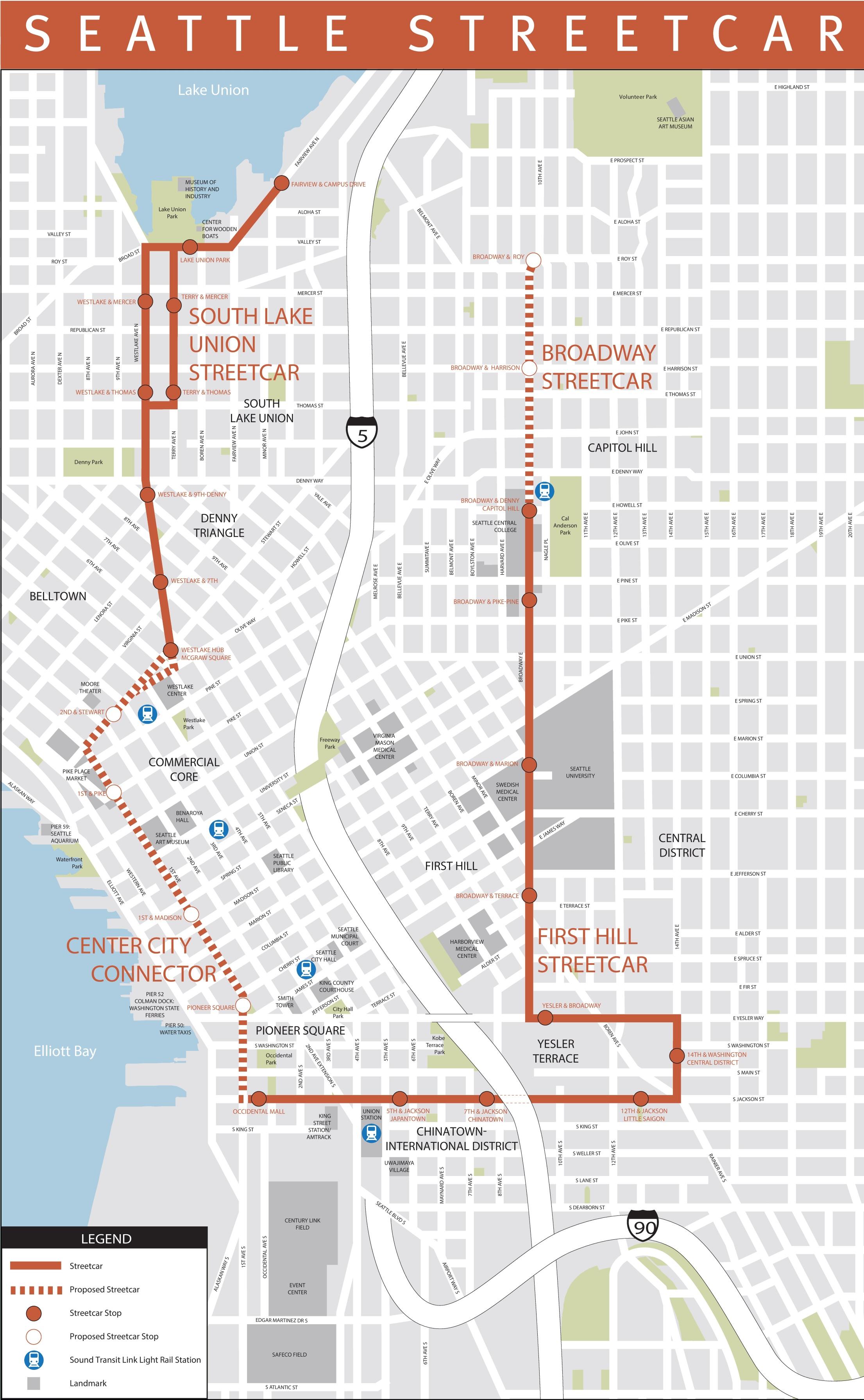 Seattle Maps Washington US Maps of Seattle