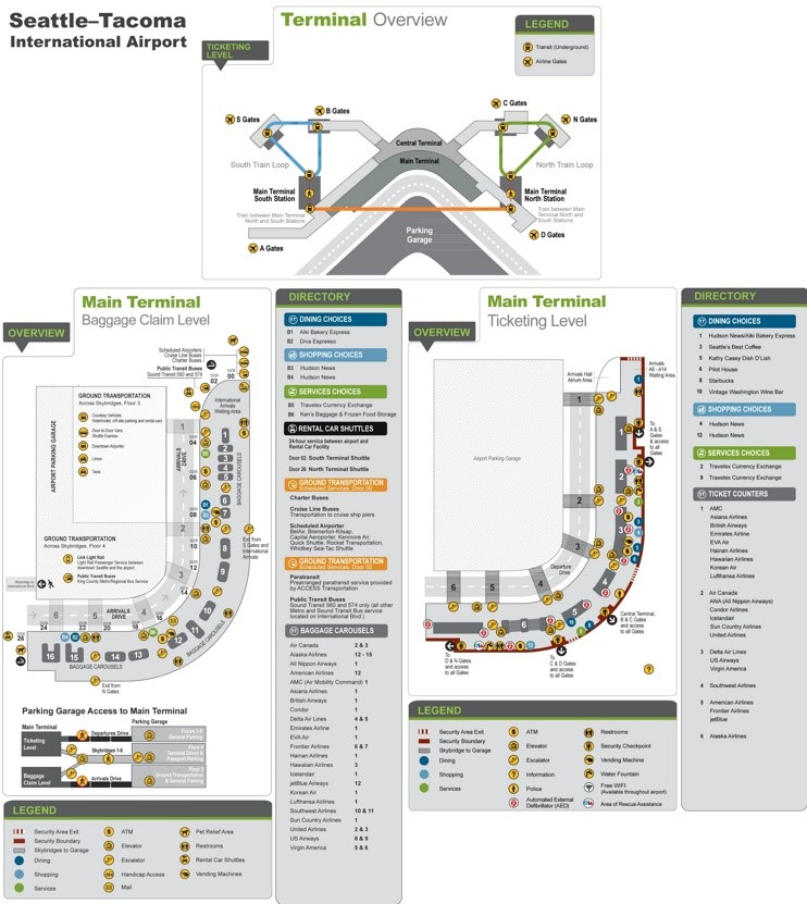 Seattle Tacoma International Airport Map