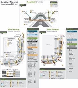 Seattle Tacoma International Airport map