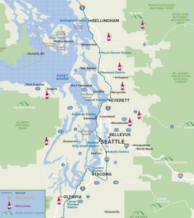 Seattle wine areas map