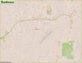 Detailed Map of Sedona