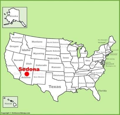 Sedona Location Map