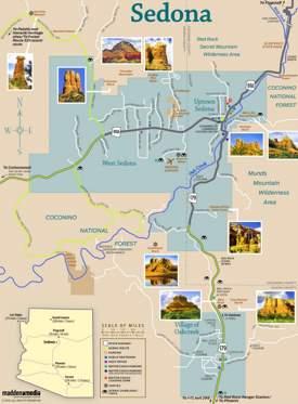 Sedona Sightseeing Map