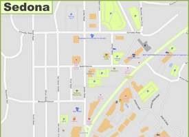 Sedona Uptown Map