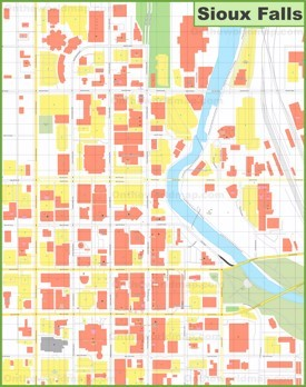Sioux Falls downtown map