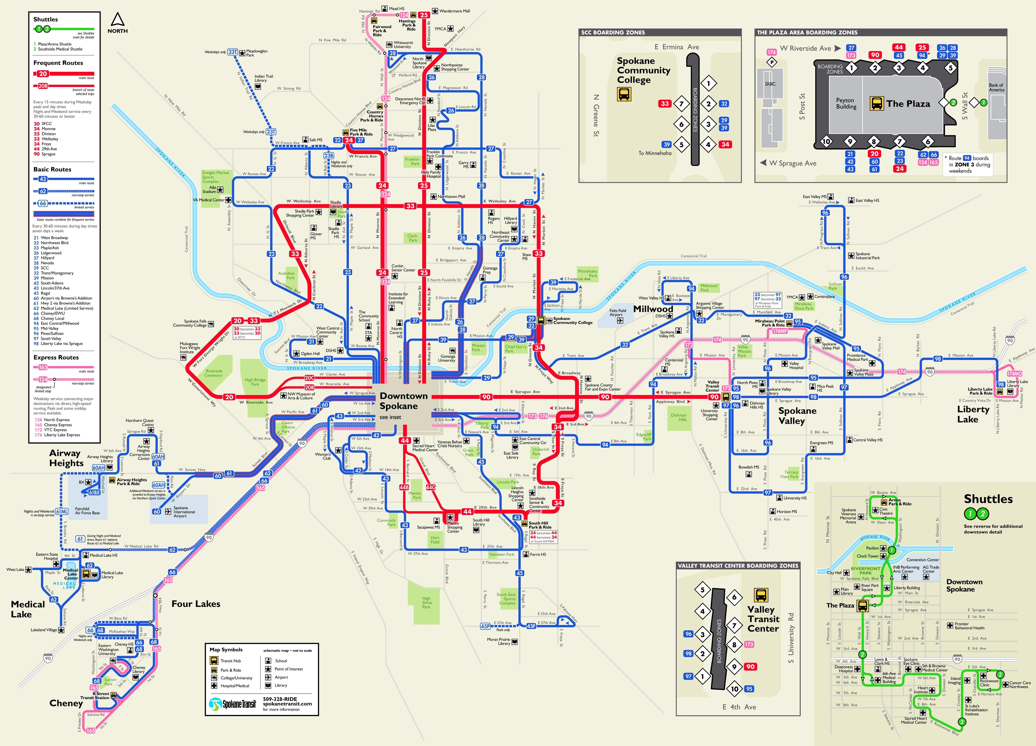 Spokane transport map