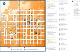 Springfield (Illinois) hotels and sightseeings map