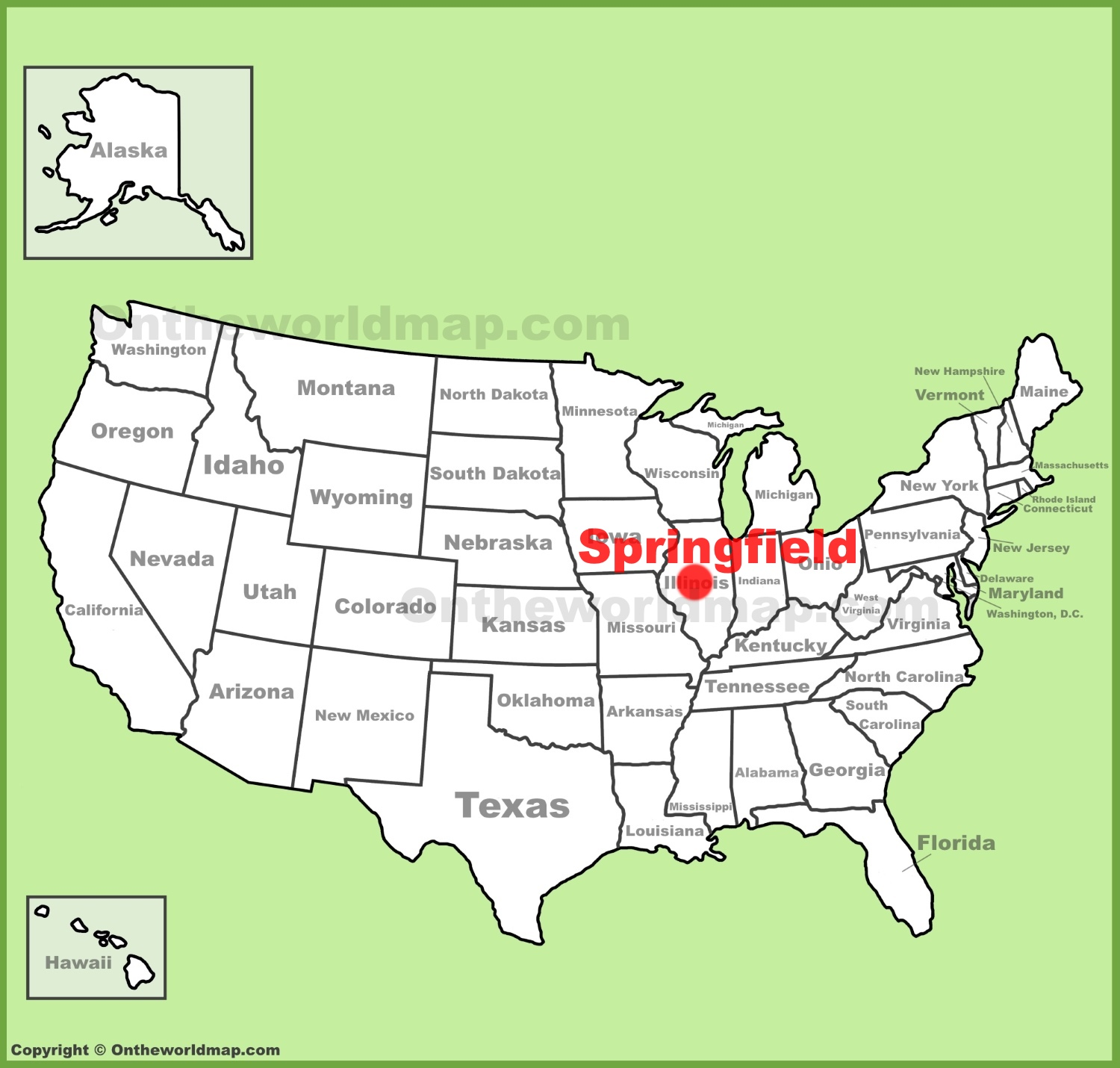 Springfield Maps | Illinois, U.S. | Maps of Springfield