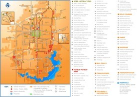 Springfield (Illinois) tourist map
