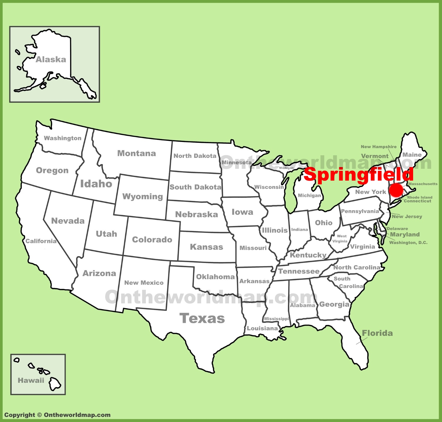 Springfield Ma Map Springfield (Massachusetts) location on the U.S. Map Springfield Ma Map