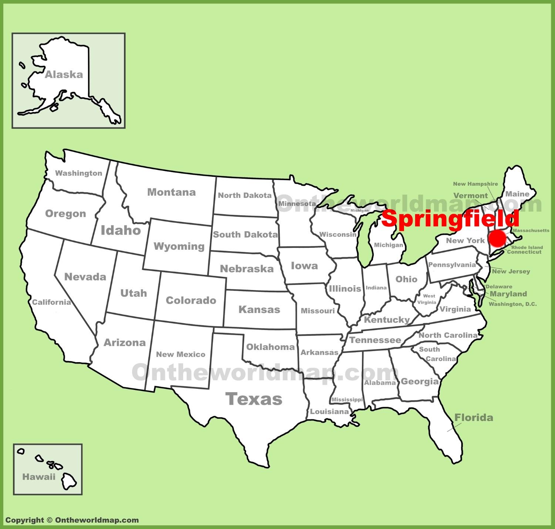 Ma On Us Map Springfield (Massachusetts) location on the U.S. Map
