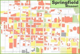 Springfield (Missouri) downtown map