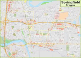 Large detailed map of Springfield