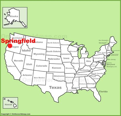 Springfield Location Map