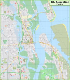 Large detailed map of St. Augustine