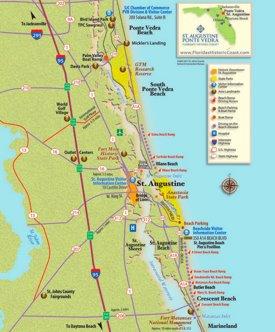 St. Augustine area tourist map