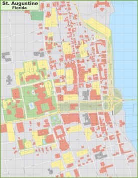 St. Augustine downtown map