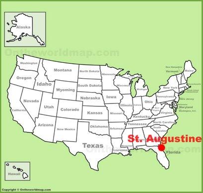 St. Augustine Location Map