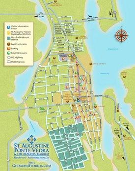 St. Augustine tourist map