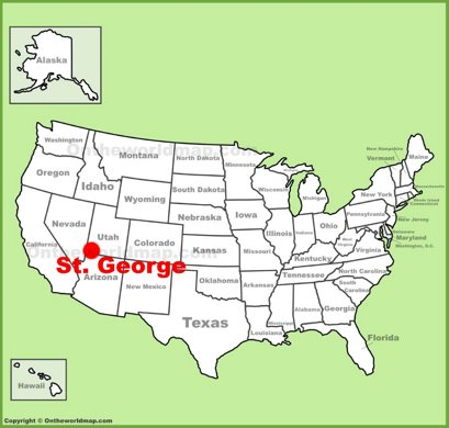 St. George Location Map