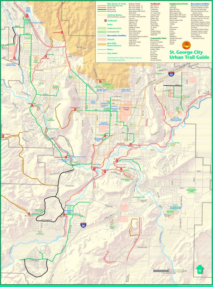 St. George trails map