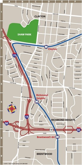 St. Louis Clayton map