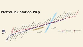St. Louis MetroLink map