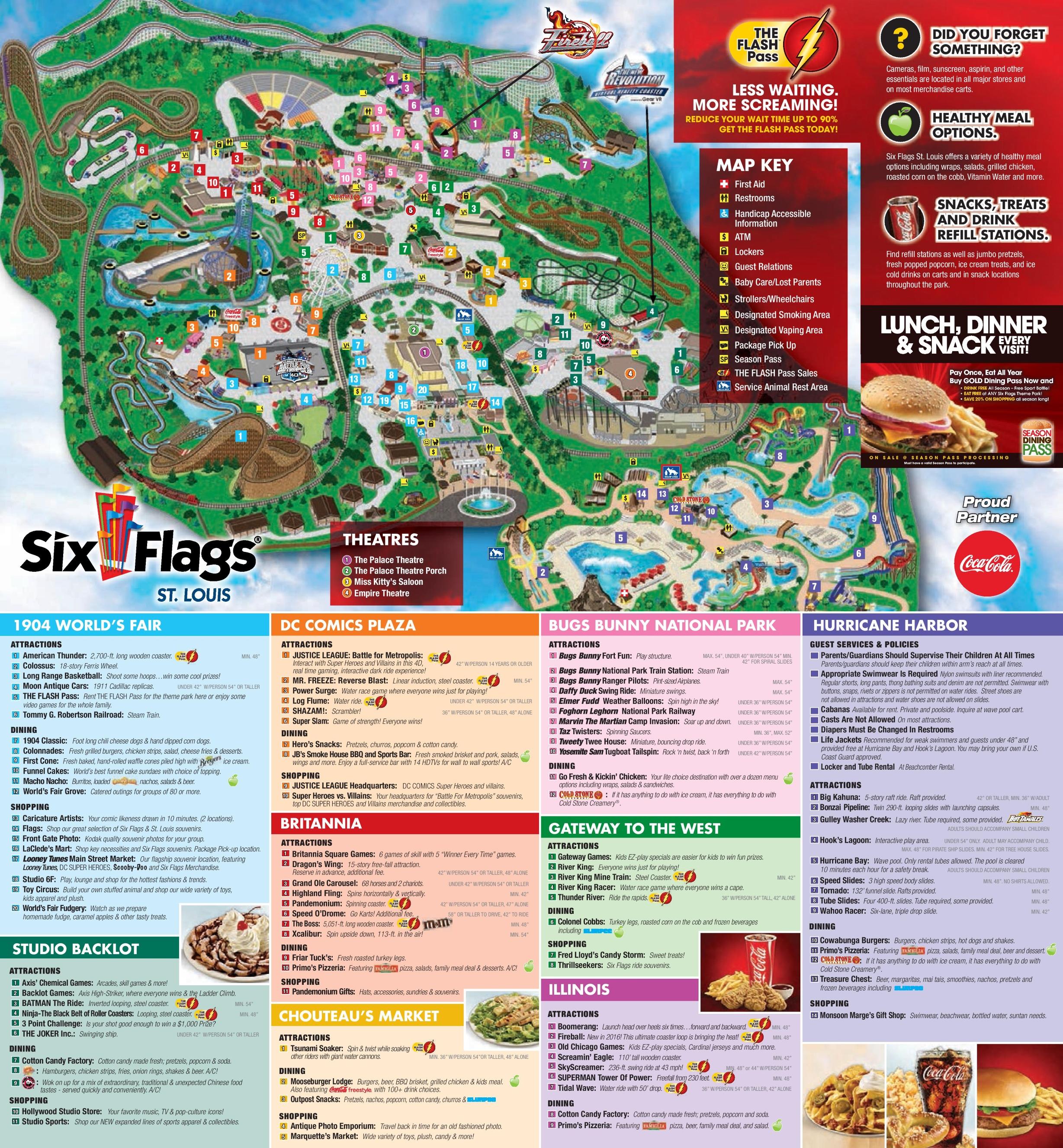 Six Flags St Louis Park map