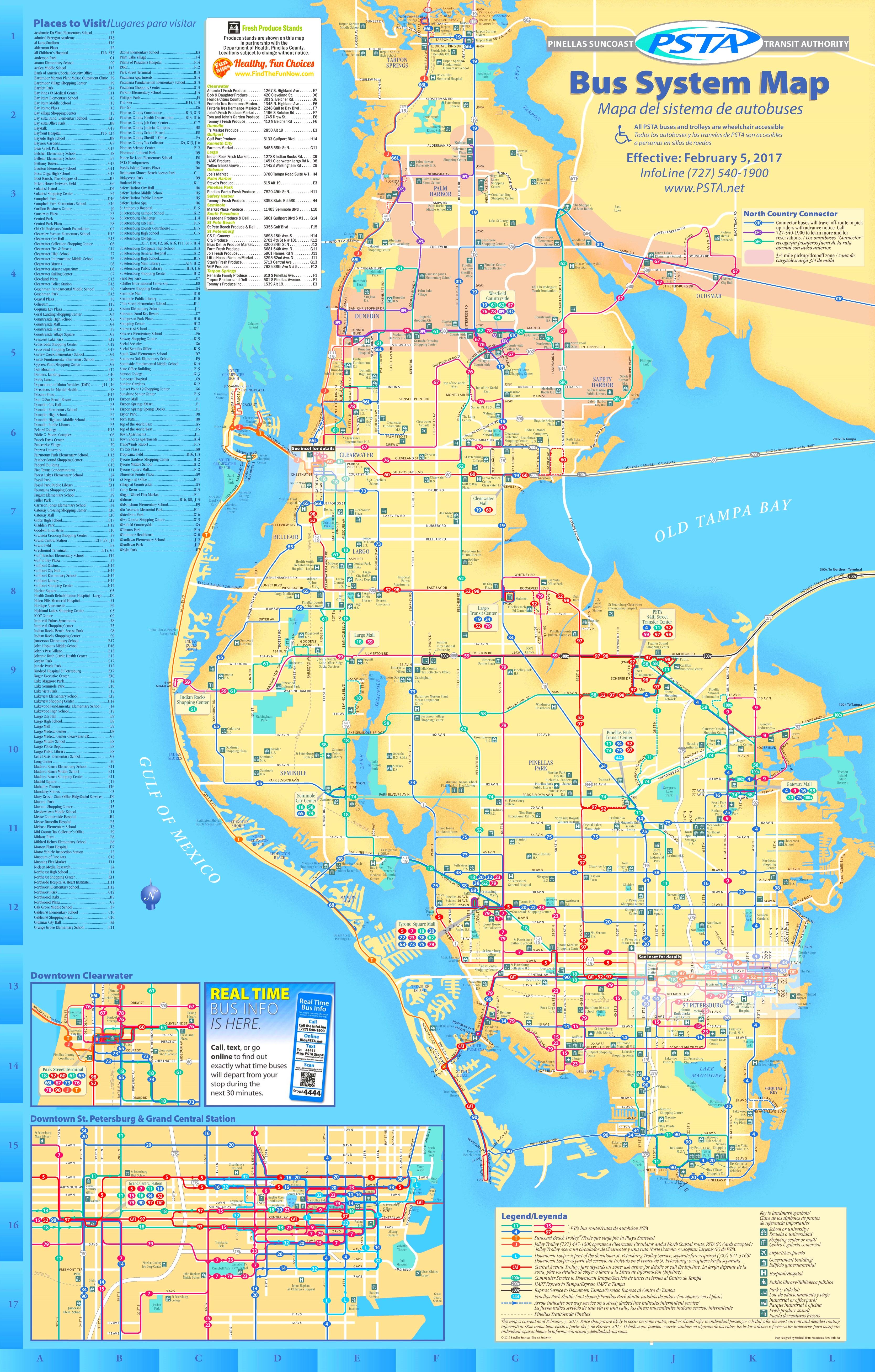 St Petersburg bus map