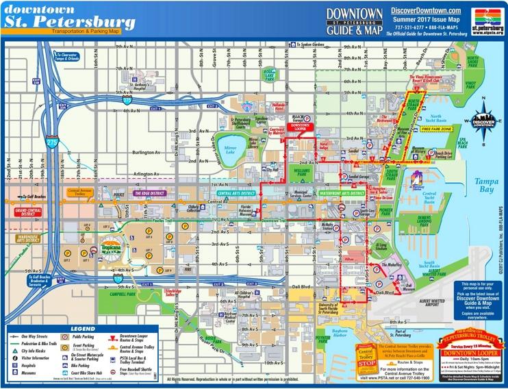 St. Petersburg tourist map