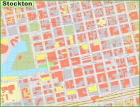 Stockton downtown map
